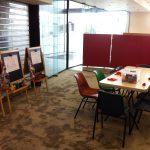 Art stations - easels & playdough
