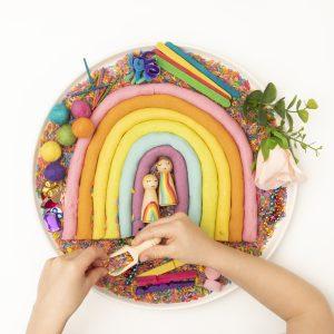 rainbow-playdough